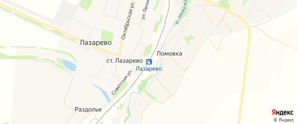 Карта станции Лазарево в Тульской области с улицами и номерами домов