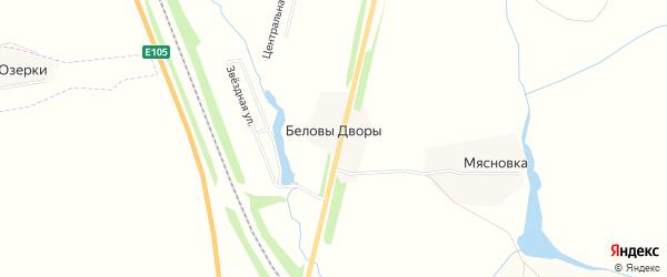 Карта деревни Беловы Дворы в Тульской области с улицами и номерами домов
