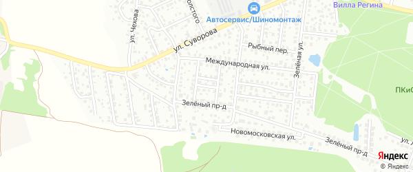 Курчатовский переулок на карте микрорайона Климовска с номерами домов