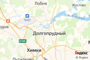 Карта г. Долгопрудный Московская область