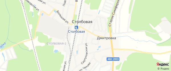 Карта поселка Столбовой города Чехов в Московской области с улицами и номерами домов