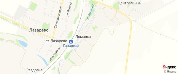 Карта деревни Ломовки в Тульской области с улицами и номерами домов