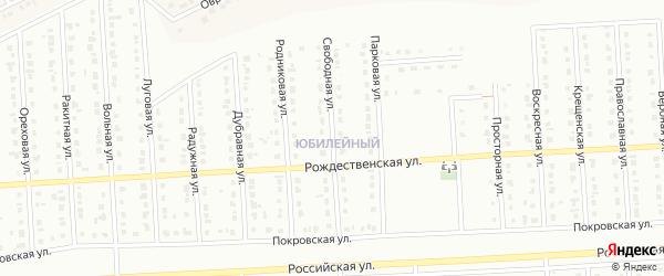 Свободная улица на карте Юбилейного микрорайона с номерами домов