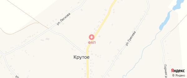Комсомольская улица на карте Крутого села Орловской области с номерами домов
