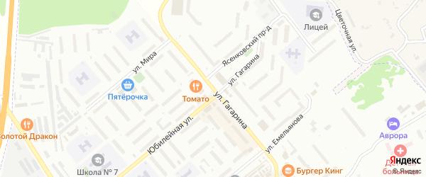 Улица Гагарина на карте Центрального поселка Тульской области с номерами домов