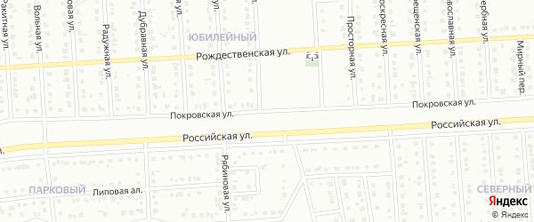 Покровская улица на карте Юбилейного микрорайона с номерами домов