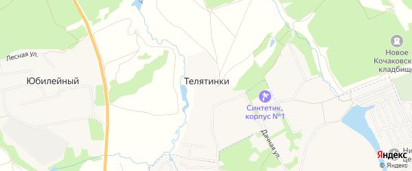 Карта деревни Телятинки в Тульской области с улицами и номерами домов