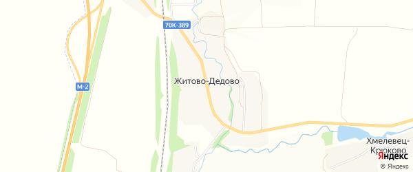 Карта деревни Житово-Дедово в Тульской области с улицами и номерами домов