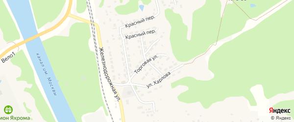 Торговая улица на карте Яхромы с номерами домов