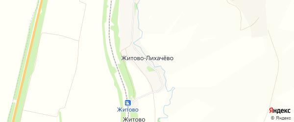 Карта деревни Житово-Лихачево в Тульской области с улицами и номерами домов
