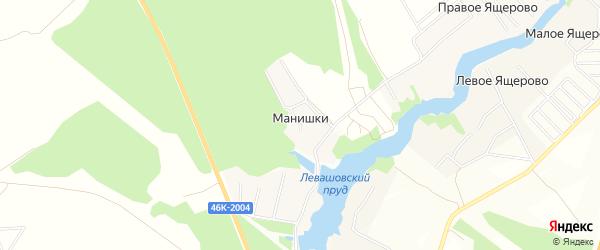 Карта деревни Манишки в Московской области с улицами и номерами домов