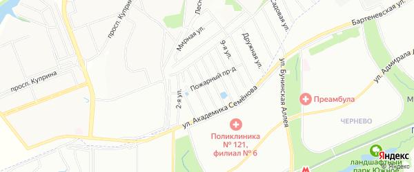 Квартал 180 на карте Сосенского поселения с номерами домов
