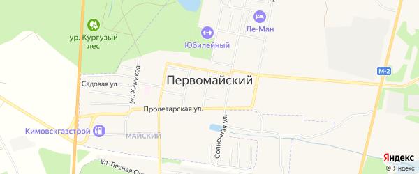 Карта Первомайского поселка в Тульской области с улицами и номерами домов