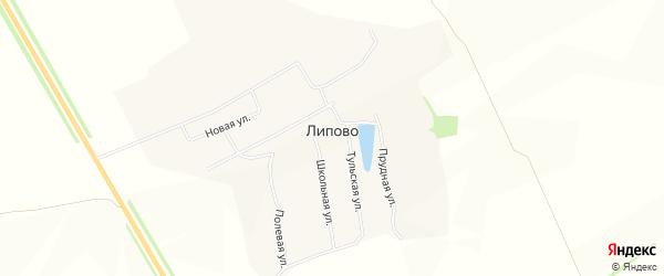 Карта села Липово в Тульской области с улицами и номерами домов