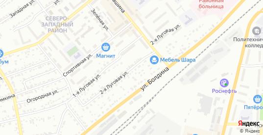 Луговая 2-я улица в Щекино с номерами домов на карте. Спутник и схема онлайн