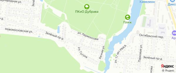 Улица Лермонтова на карте микрорайона Климовска с номерами домов