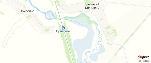 Карта садового некоммерческого товарищества Приволье (в р-не Гремя Колодезь) в Тульской области с улицами и номерами домов