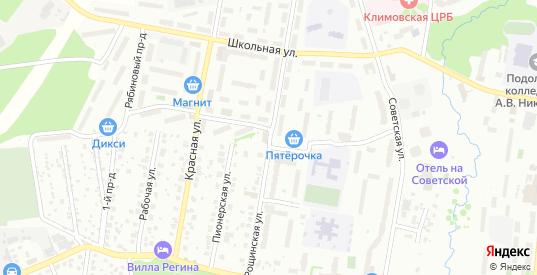Рощинская улица в Климовске с номерами домов на карте. Спутник и схема онлайн