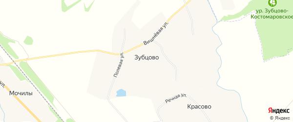 Карта деревни Зубцово в Орловской области с улицами и номерами домов