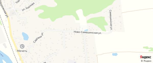 Ново-Семешинская улица на карте Яхромы с номерами домов
