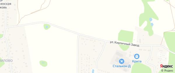 Улица Кирпичный завод на карте Яхромы с номерами домов