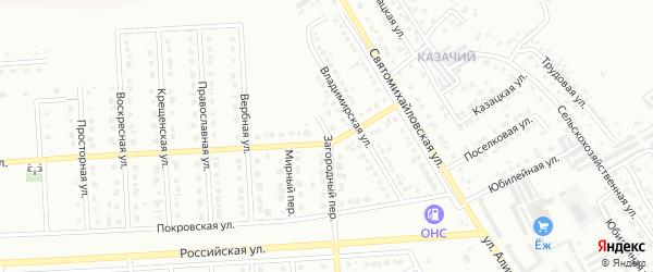 Загородный переулок на карте Юбилейного микрорайона с номерами домов