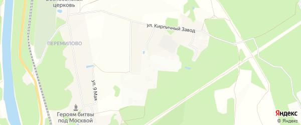 Территория объединение Радуга на карте Яхромы с номерами домов