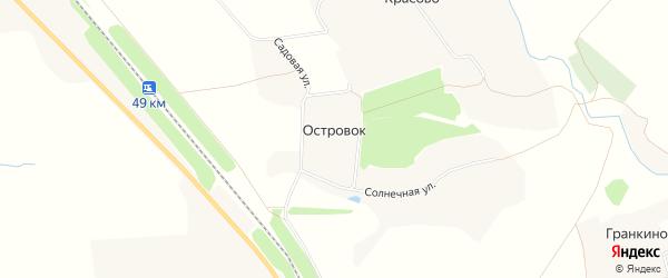 Карта деревни Островка в Орловской области с улицами и номерами домов