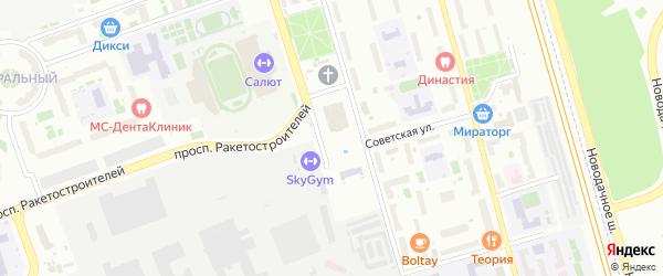 Улица Виноградова на карте Долгопрудного с номерами домов