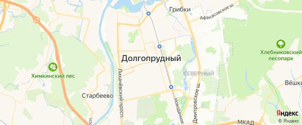 Карта Долгопрудного с районами, улицами и номерами домов
