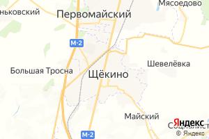 Карта г. Щёкино Тульская область