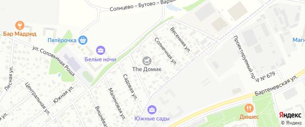 Рябиновая улица на карте Московского с номерами домов