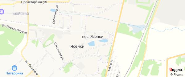 Карта поселка Ясенок в Тульской области с улицами и номерами домов