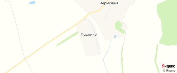 Карта деревни Пушкино в Тульской области с улицами и номерами домов