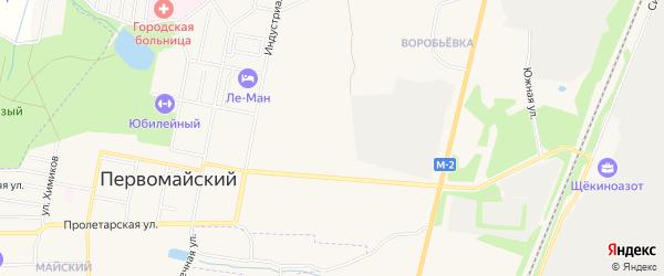 Карта садового некоммерческого товарищества Мира в Тульской области с улицами и номерами домов