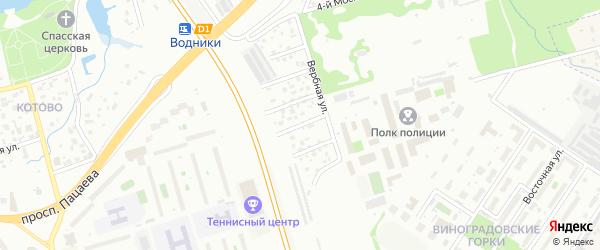 4-ый Вербный проезд на карте поселка ДНТ Щапово-1 с номерами домов