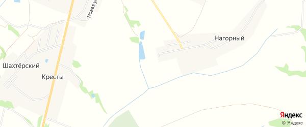 Карта садового некоммерческого товарищества Шахты 14 в Тульской области с улицами и номерами домов