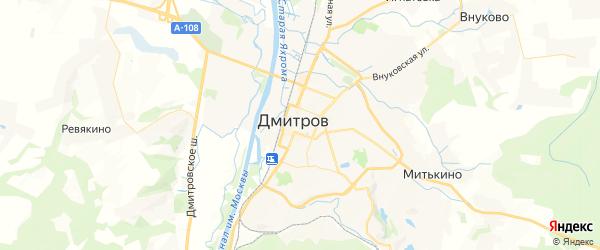 Карта Дмитрова с районами, улицами и номерами домов