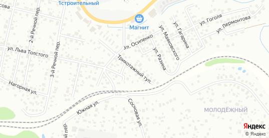 Трикотажный тупик в Дмитрове с номерами домов на карте. Спутник и схема онлайн