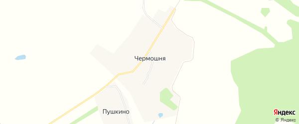 Карта деревни Чермошни в Тульской области с улицами и номерами домов