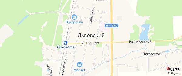 Львовский микрорайон на карте Подольска с номерами домов