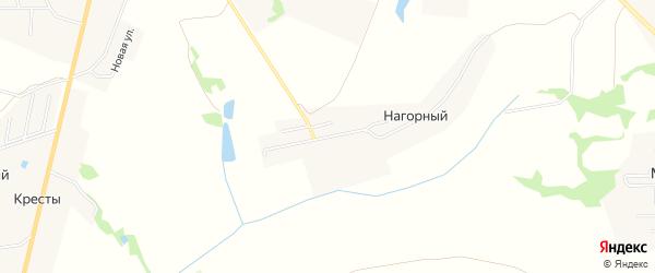 Карта Нагорного поселка в Тульской области с улицами и номерами домов