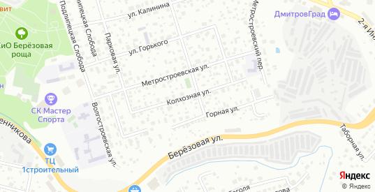 Колхозная улица в Дмитрове с номерами домов на карте. Спутник и схема онлайн