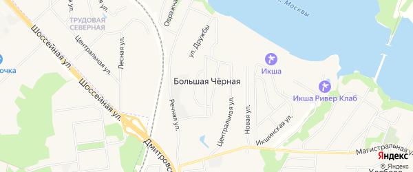 Карта Большей Черной деревни города Мытищи в Московской области с улицами и номерами домов