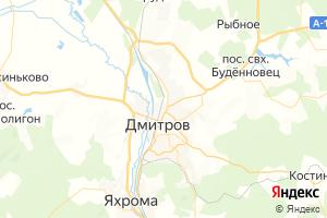 Карта г. Дмитров