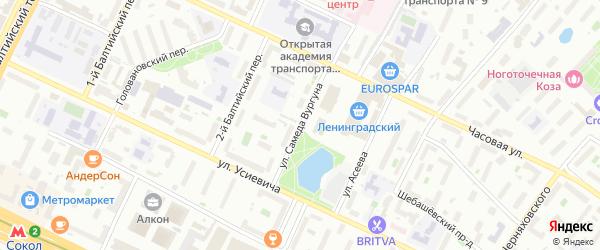 Улица Самеда Вургуна на карте Москвы с номерами домов