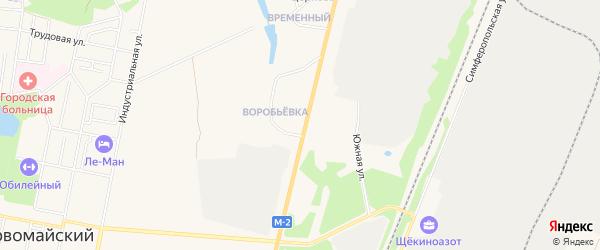 Карта поселка Дома Шахты N 2-Западной в Тульской области с улицами и номерами домов