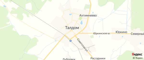 Карта Талдома с районами, улицами и номерами домов