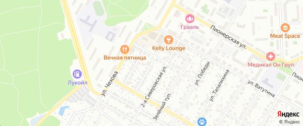 Ватутинский 1-й проезд на карте Подольска с номерами домов