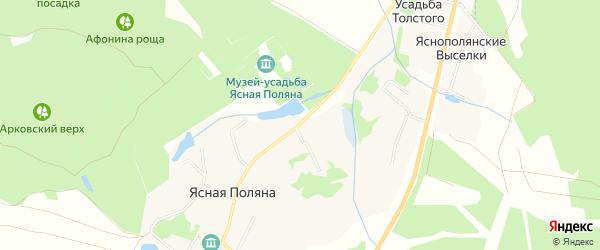 Карта деревни Ясной Поляны в Тульской области с улицами и номерами домов